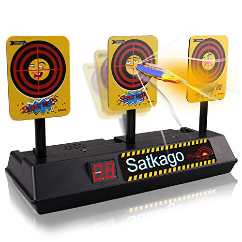 705d2651c Satkago Auto Reset Mini Digital Targets for Shooting, Electronic Scoring  Target with Intelligent Light Sound Effect Toy Gun Targets for Kids