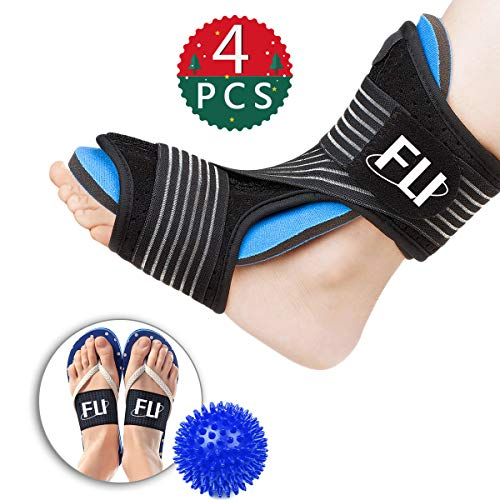 b33a249dfa Plantar Fasciitis Night Splint for Effective Relief from Plantar Fasciitis  Pain, Heel Spur, Arch Foot Pain, Foot Drop Orthotic Brace for Sleep Support  with ...