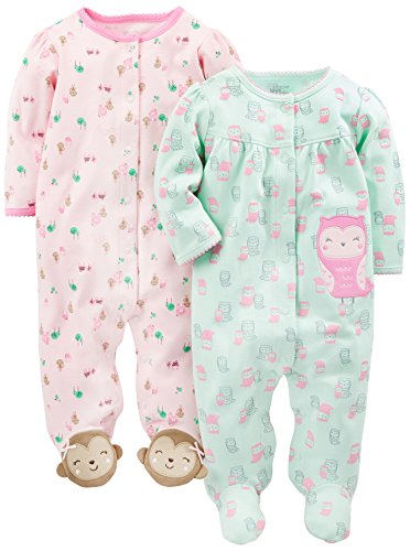 Simple Joys by Carters Baby-M/ädchen 3-Pack Sleep and Play 3er-Pack