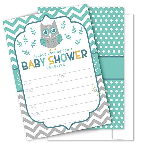 Owl Baby Shower Invitations 25 High