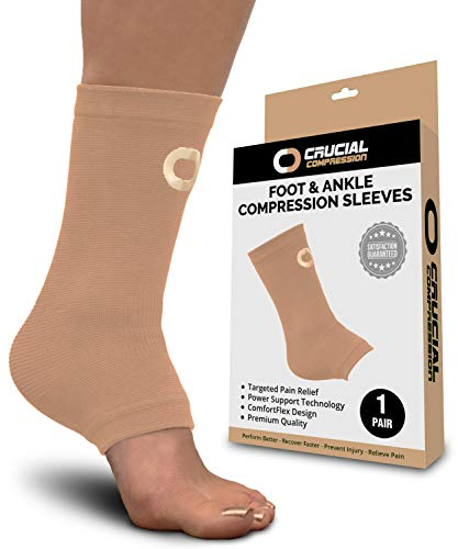 456cdefa98 Ankle Brace Compression Sleeve for Men & Women (1 Pair) – Best Ankle  Support Braces for Pain Relief, Injury Recovery, Swelling, Sprain, Achilles  Tendon ...