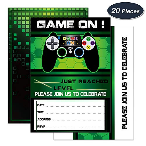 Wernnsai Video Game Invitations 20 Set Magical Fill In Game Party