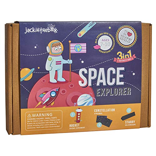 Jackinthebox Space Themed Craft Kit And Educational Toy For Boys And