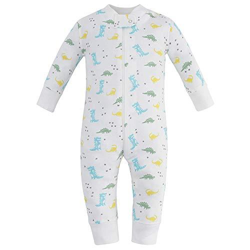 Long Sleeve Owlivia Organic Cotton Baby Boy Girl Zip up Sleep N Play Size 0-18 Month Footless