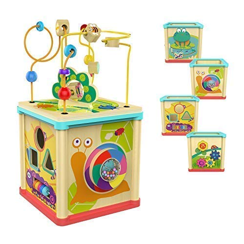 Top Bright Activity Cube Wooden Toys For 1 Year Old Girl And Boy