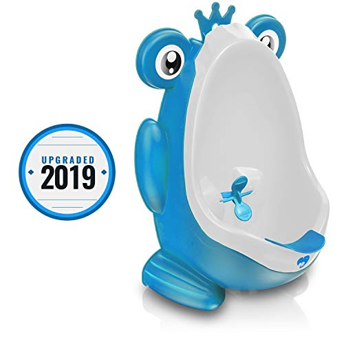 79160956ab330 Frog Potty Training Urinal for Boys Toilet with Funny Aiming Target – Blue