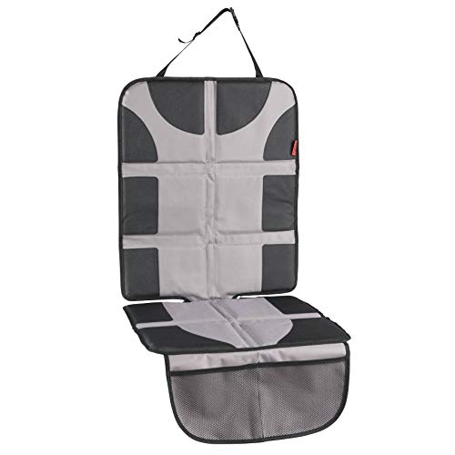 Featuring XL Size Car Seat Protector with Thickest Padding Waterproof 600D Fabric PVC Leather Reinforced Corners /& 2 Large Pockets for Handy Storage Durable Best Coverage Available