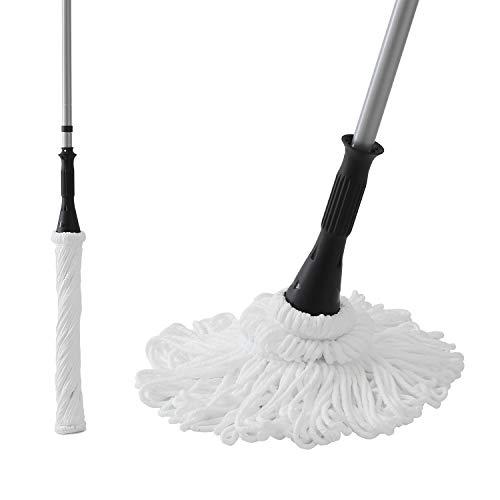 Eyliden 57 5″ Microfiber Twist Mop Hand-Free Washing Mop