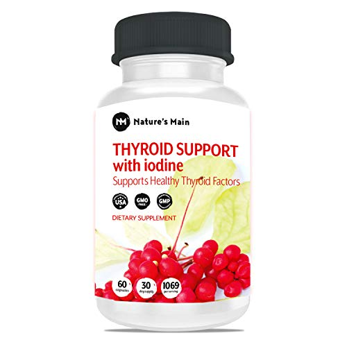 Thyroid Support Energy Pills ǀ Iodine Supplement Metabolism