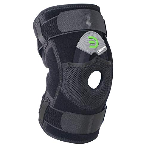 DISUPPO Hinged Knee Brace Support Women Men, Adjustable Open