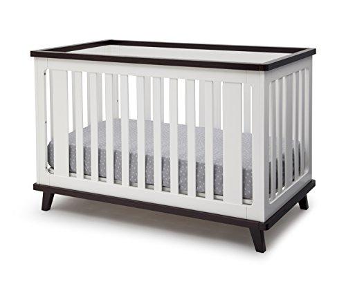 Delta Children Ava 3 In 1 Convertible Baby Crib White Black
