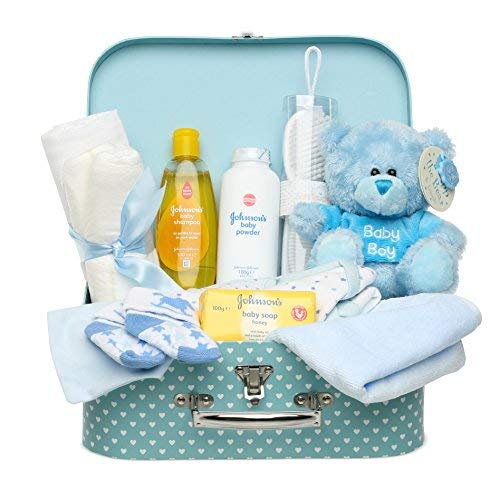 Gift Set for New Baby Boy with Baby Clothes Teddy and Gifts Baby Box Shop