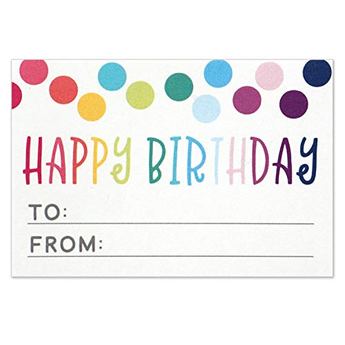Happy Birthday To From Sticker For Gift Tag Labels Present Stickers Size 3x2 Inches Pack Of 50