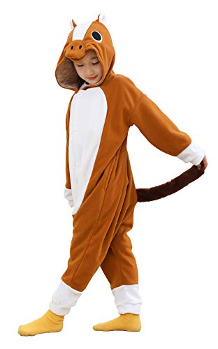Child Onesie Girls Boys Halloween Costumes Brown Horse