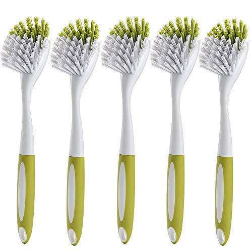 Hard Bristle 2 Kitchen & Bathroom Cleaning Scrub Brush Soft Grip.