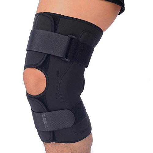 e40512e23a T TIMTAKBO Hinged Knee Brace Support,Metal Side Stabilizer,Open Patella,Wrap  for Athletic Compression,Arthritis,Sports Trauma,Sprains,Pain Release and  ...