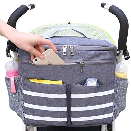 883ee786036a1 Parents Stroller Organizer Travel Bag with Shoulder Strap Insulated ...