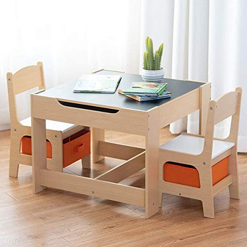 Costzon Kids Table And 2 Chairs Set 3