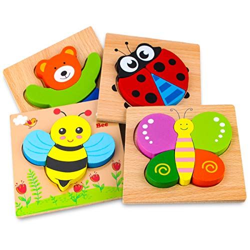 Skyfield Wooden Animal Jigsaw Puzzles For Toddlers 1 2 3 Years Old