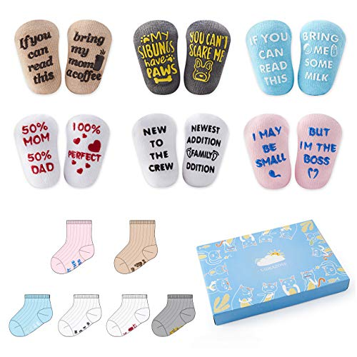 6 Pair For 0-12 Months Baby Socks Gift Set Shower Gifts Newborn Funny Present