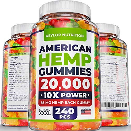KEYLOR NUTRITION Premium Hemp Gummies – 20000 MG – All