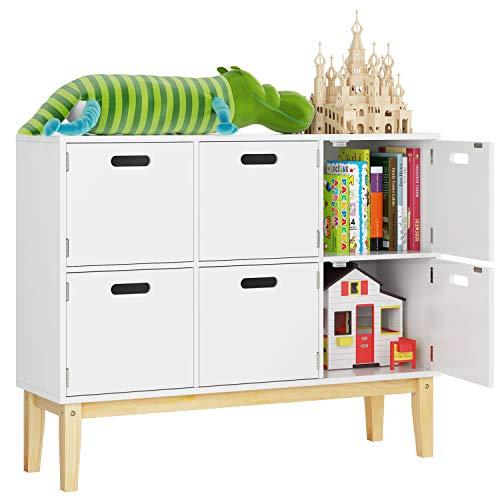 Brilliant Homecho 6 Cubby Door Wood Kids Floor Toy Book Storage Download Free Architecture Designs Rallybritishbridgeorg