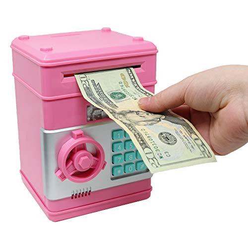 Smart Novelty Kids Electronic Piggy Bank Safe With Pword