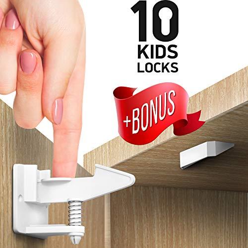 Kitchen Cabinet Locks Child Safety – Adhesive Child Proof ...