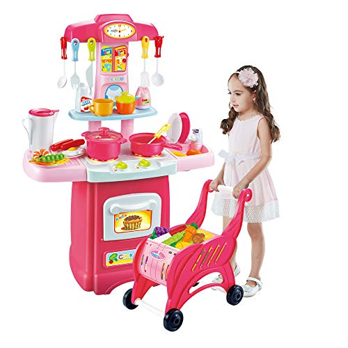 Children\'s Toys Electronic Kitchen Set, Kids Kitchen Playset ...