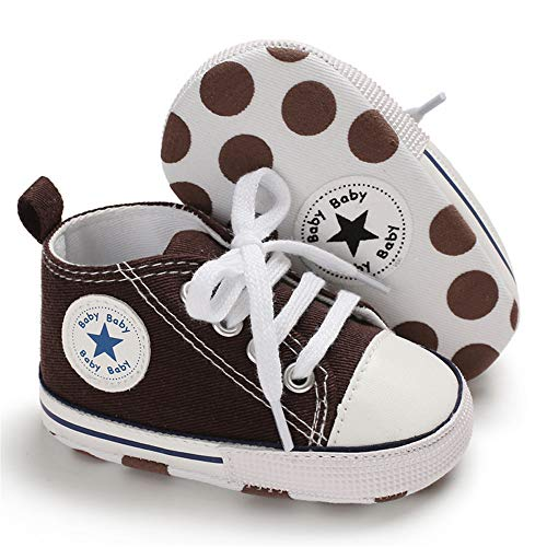 3e670e296a1b7 Save Beautiful Baby Girls Boys Canvas Sneakers Soft Sole High-Top ...