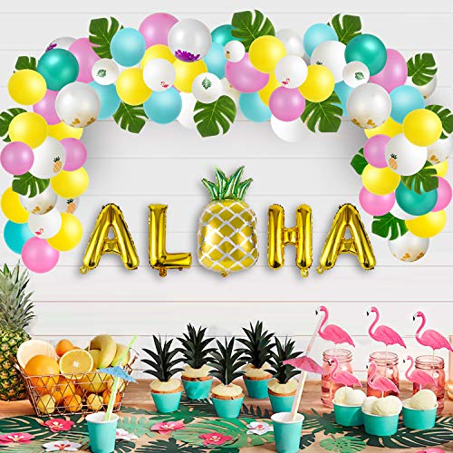 Luau Party Cups Set of 12 With Lids Straws