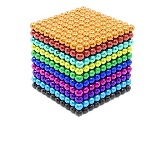 Magnetic Balls Magnet Building Blocks Fidget Toys Desk Decor for Intelligence Development and Stress Relief sunsoy Silver 5 Millimeter 216 Pieces Magnetic Sculpture