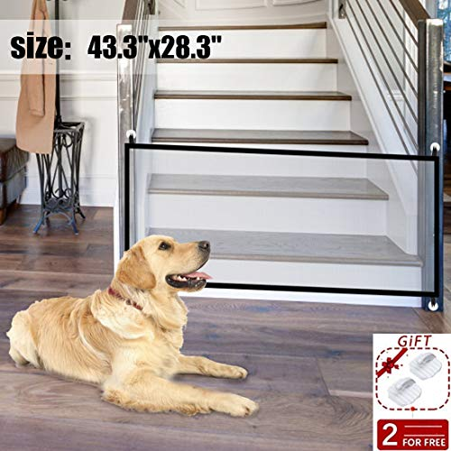 43.3x28.3Magic Dog Gate,Portable Folding Pet Safety Gate,Baby Safety Fence for House Indoor Stair//Doorway Use