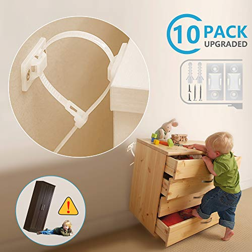 Child Safety Furniture Straps Baby Proofing Anti Tip