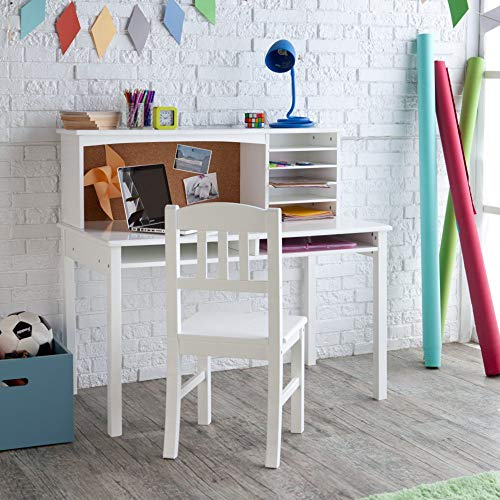 Guidecraft Children\'s Media Desk and Chair Set White ...