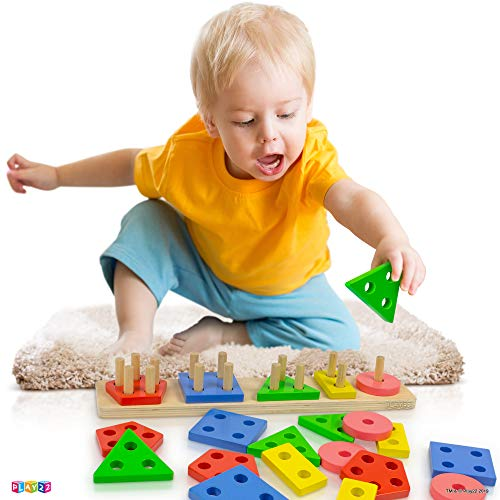 Play22 Shape Sorter Color Wooden Bard – Educational Toys for