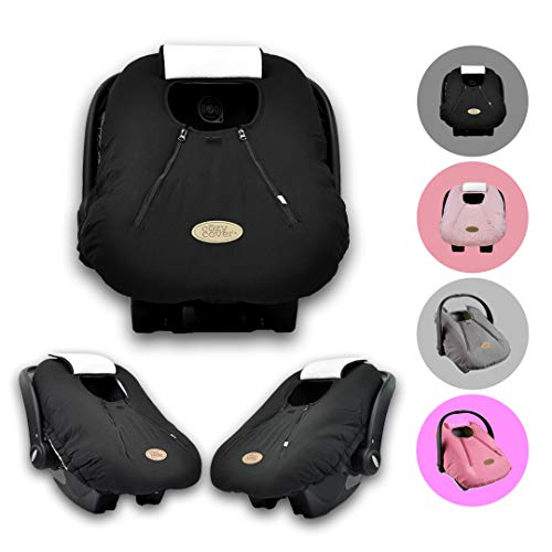 The Industry Leading Infant Carrier Cover Trusted By Over 5.5 Million Moms Worldwide For Keeping Your Baby Cozy /& Warm Black Quilt Cozy Cover Infant Car Seat Cover