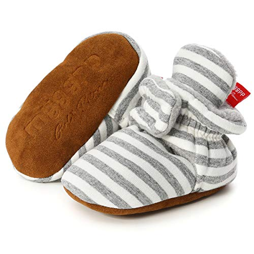 Baby Booties Cozy Fleece Infant Slippers Non-Slip Soft Sole Baby Boy Girl Shoes Winter Warm Cotton Socks Stay On Crib Shoes