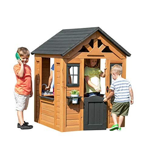 Backyard Discovery Sweetwater All Cedar Wooden Playhouse ...