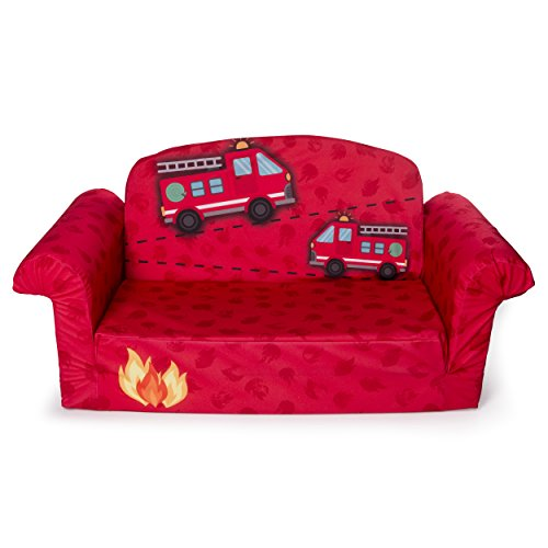 Pleasing Marshmallow Furniture Childrens 2 In 1 Fire Truck Flip Pabps2019 Chair Design Images Pabps2019Com