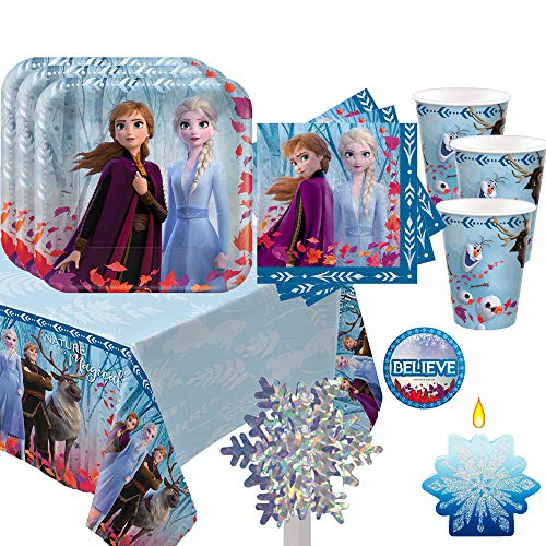 Details about  /Disney Frozen 2 NEW 16 ct plates napkins candles tablecover PARTY BIRTHDAY