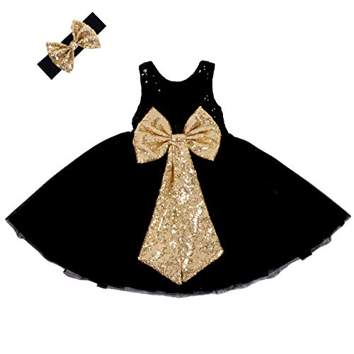 Argorgeous Flower Girl Dress Baby Toddlers Sequin Dress Tutu Kids Party Dress Bridesmaid Wedding Gown