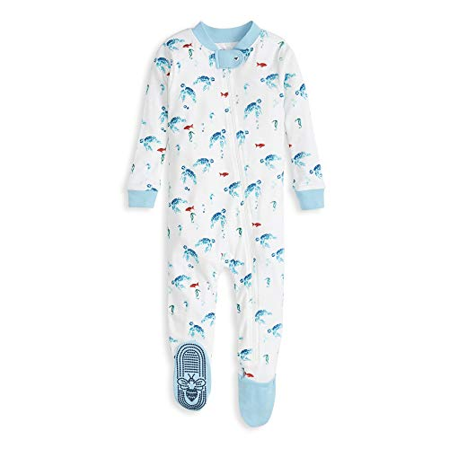 Organic Cotton Burts Bees Baby Baby Boys Unisex Pajamas Zip-Front Non-Slip Footed Sleeper Pjs