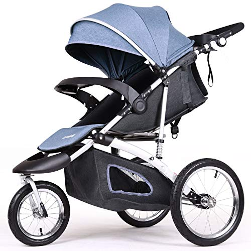 Diroan Baby Lightweight Stroller Rain Cover with Accessories from Birth to 3.5 Years Compact Folding 0-15 kg Pocket Travel Buggy Black Easy Transport by Plane Bus Kids Pushchair