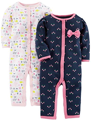 Carters Baby Girls 2-Pack Sleeper Gowns Pink Floral