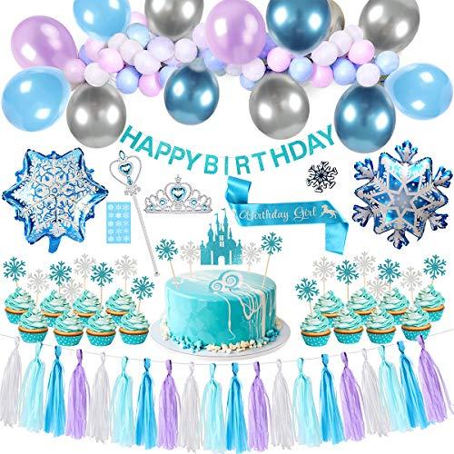 Birthday Party Tassel Garland Decorations Frozen Theme
